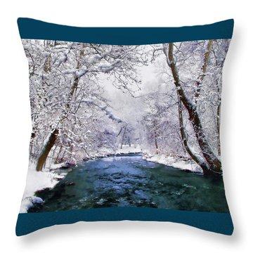 Winter White Throw Pillow