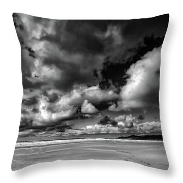 Woolacombe Skies Throw Pillow