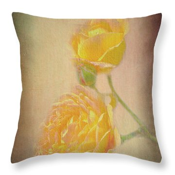 Throw Pillow featuring the photograph Yellow Roses by Susan Leonard