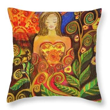 Zen Morning Throw Pillow