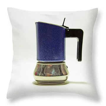 10-05-19 Studio. Blue Cafetiere Throw Pillow