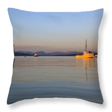 10/11/13 Morecambe. Fishing Boats Moored In The Bay. Throw Pillow