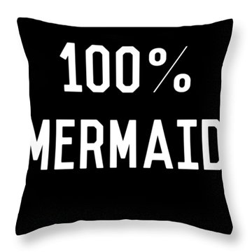 100 Mermaid Throw Pillow