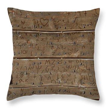 100 Years Of Brands - Meeteetse, Wyoming Throw Pillow