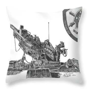 10th Marines 777 Throw Pillow