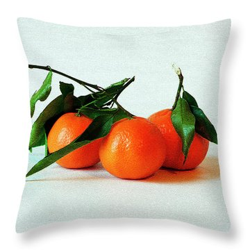11--01-13 Studio. 3 Clementines Throw Pillow
