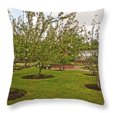 11/05/19 Chorley. Astley Hall. Walled Garden. The Orchard. Throw Pillow
