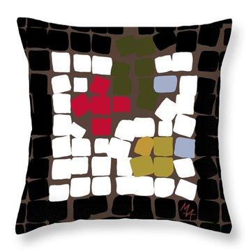 Throw Pillow featuring the digital art 11 X 11 Still Life by Attila Meszlenyi