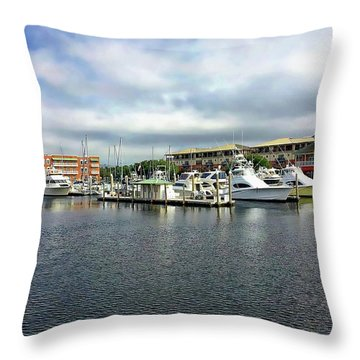 Throw Pillow featuring the photograph Pensacola Bay by Anthony Dezenzio