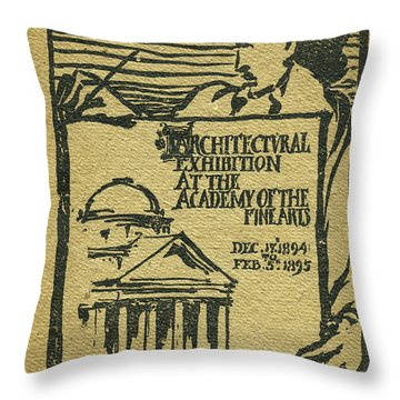 1894-95 Catalogue Of The Architectural Exhibition At The Pennsylvania Academy Of The Fine Arts Throw Pillow