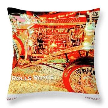 1921 Rolls Royce Classic Automobile Throw Pillow