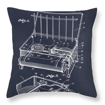 1924 Coleman Camp Stove Blackboard Patent Print Throw Pillow
