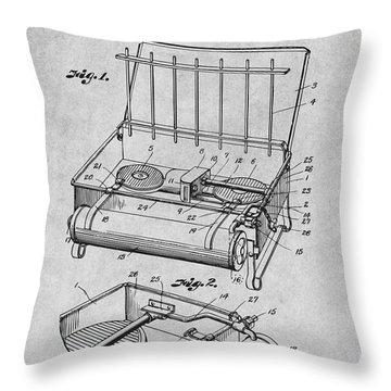 1924 Coleman Camp Stove Gray Patent Print Throw Pillow