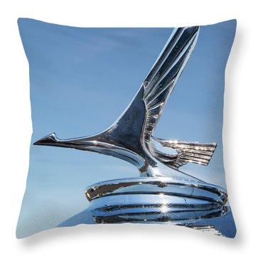 1931 Studebaker Automobile Hood Ornament Throw Pillow