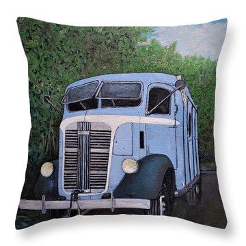 1937  Gmc Coe Throw Pillow