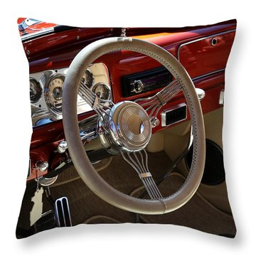 Throw Pillow featuring the photograph 1938 Pontiac Silver Streak Interior by Debi Dalio