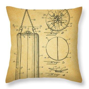 1939 Punching Bag Patent Throw Pillow