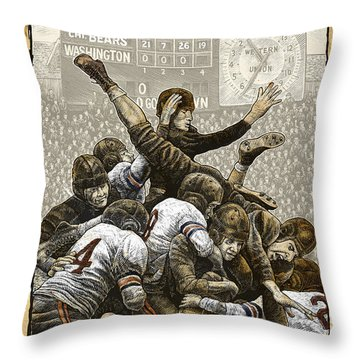 1940 Chicago Bears Throw Pillow