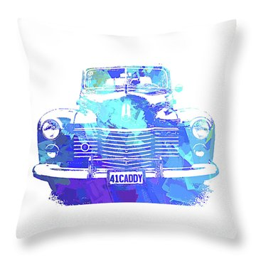 1941 Cadillac Front Abs Blue Throw Pillow