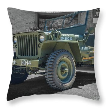 1942 Willys Gpw Throw Pillow