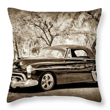 Throw Pillow featuring the photograph 1950 Oldsmobile 88 -004s by Jill Reger
