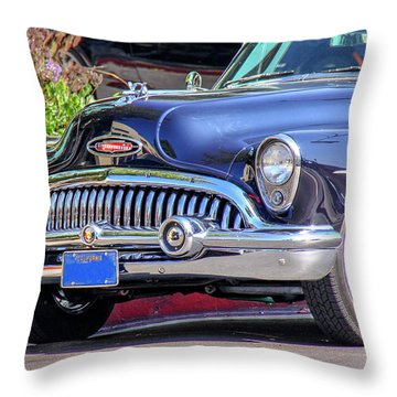1953 Buick Skylark - Chrome And Grill Throw Pillow