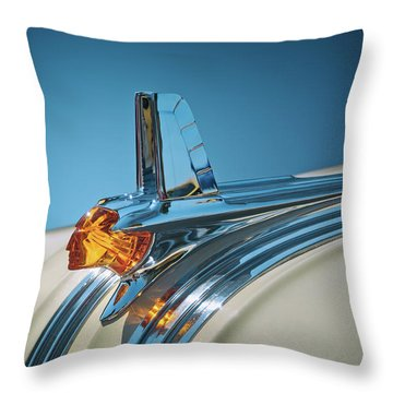 1953 Pontiac Hood Ornament Throw Pillow