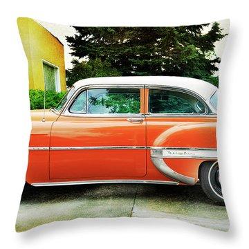1954 Belair Chevrolet 2 Throw Pillow