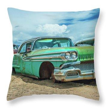 1958 Oldsmobile Super 88 Throw Pillow