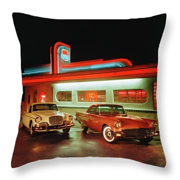 Night Hawk Throw Pillows