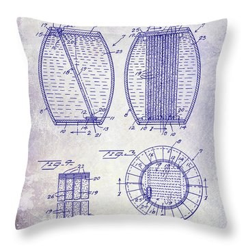 1962 Whiskey Aging Patent Blueprint Throw Pillow