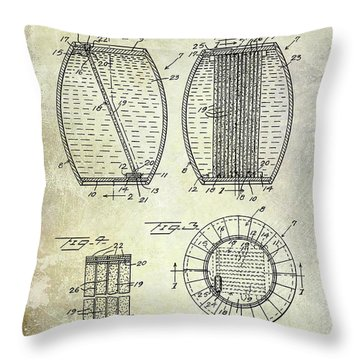 1962 Whiskey Aging Patent Throw Pillow