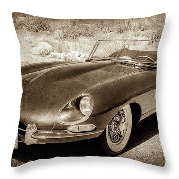 1963 Jaguar Xke Roadster-111s Throw Pillow