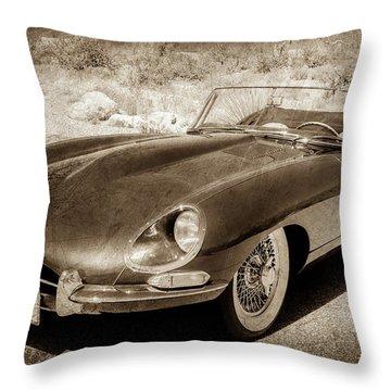 Throw Pillow featuring the photograph 1963 Jaguar Xke Roadster-111s by Jill Reger