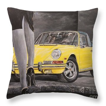1968 Porsche 911 Targa Throw Pillow