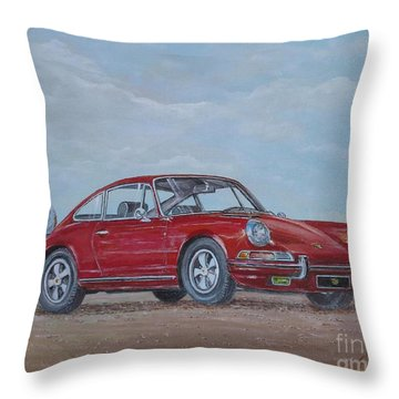 1968 Porsche 911 2.0 S Throw Pillow