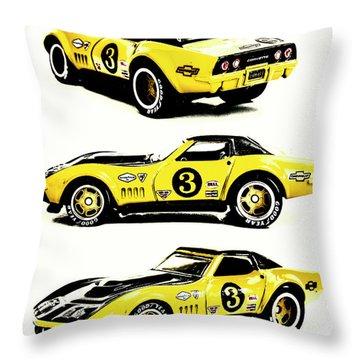 1969 Chevrolet Copo Corvette Throw Pillow