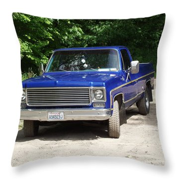 1977 Chevy Throw Pillow