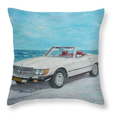 1979 Mercedes 450 Sl Throw Pillow