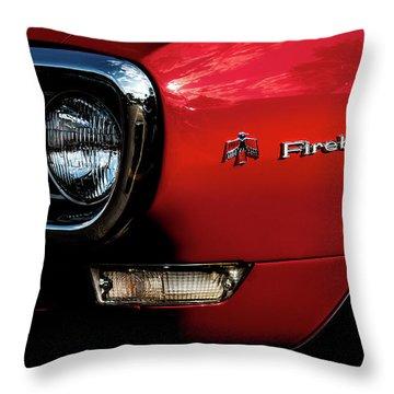 Throw Pillow featuring the photograph 1st Generation Firebird by Onyonet  Photo Studios