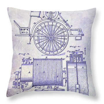 1873 Fire Extinguisgers Patent Throw Pillow