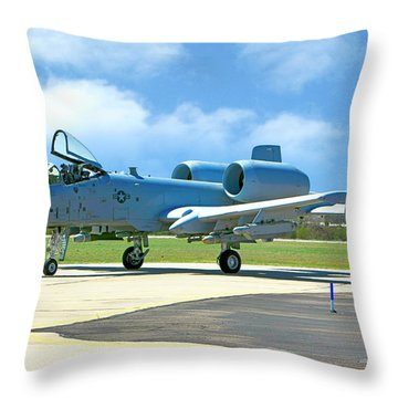 A-10 Warthog Throw Pillow