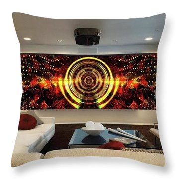 Abstract Power Change Throw Pillow