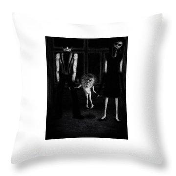 Adeline's Family - Artwork Throw Pillow