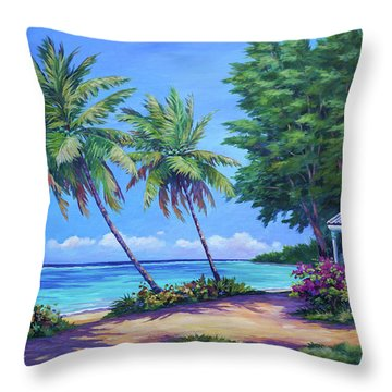 At The Island's End Throw Pillow