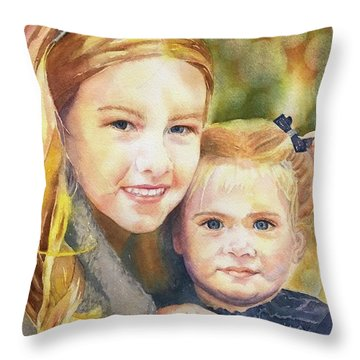 Belle And Maddie Throw Pillow