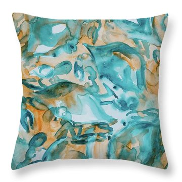 Blue Crabs Together Throw Pillow