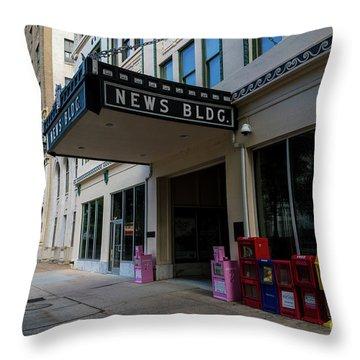 Broad Street Downtown Augusta Ga Throw Pillow