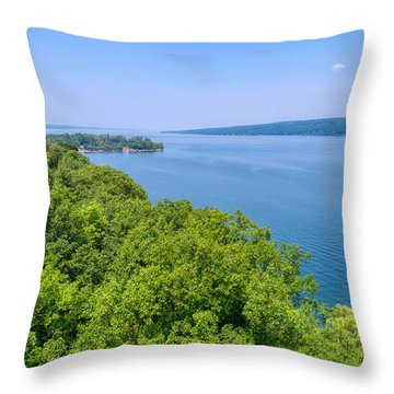 Cayuga Lake  Throw Pillow