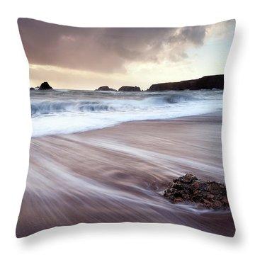 Departing Storm Throw Pillow